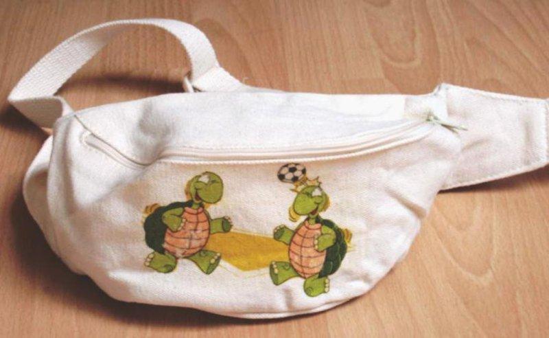 lustige Bauchtasche Fussball Schildkröten