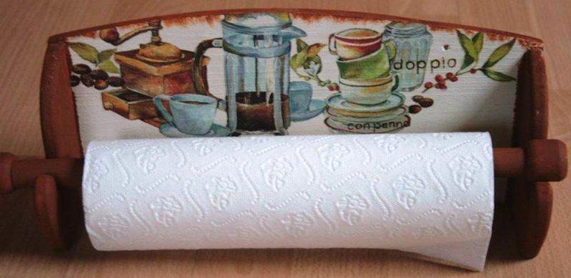 elegant kitchen towel holder Café doppio