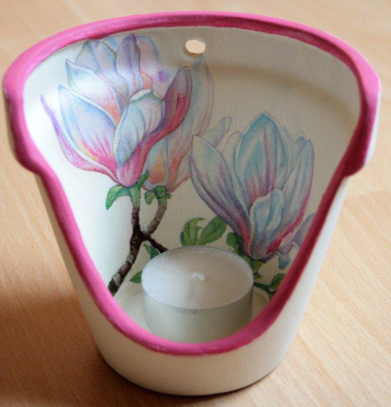 wonderful tealight holder magnolia