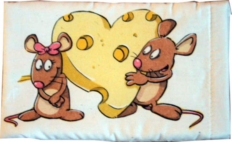 goldiges Brillenetui Mäuse mit Käseherz