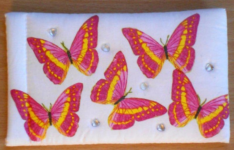 hübsches Brillenetui bunte Schmetterlinge