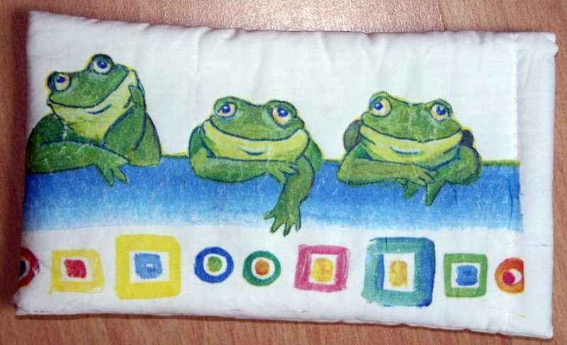 cute case for eyeglasses funny relaxing frogs