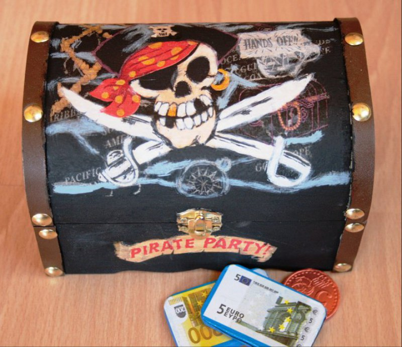 cool small pirate chest