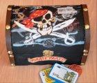 coole Schatulle - Holztruhe Piraten Party