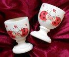 romantic egg cup ladybeetle in love