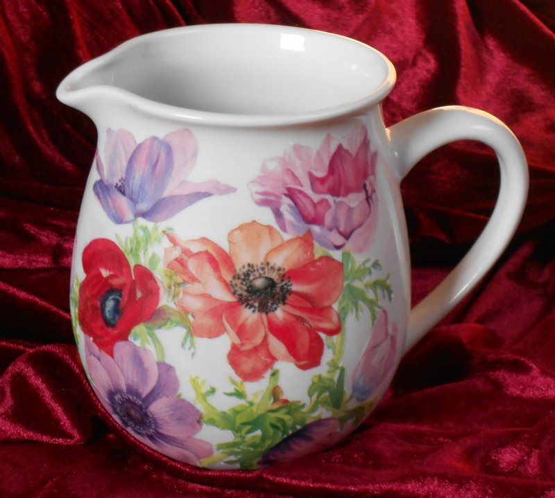 romantic porcelain mug anemone