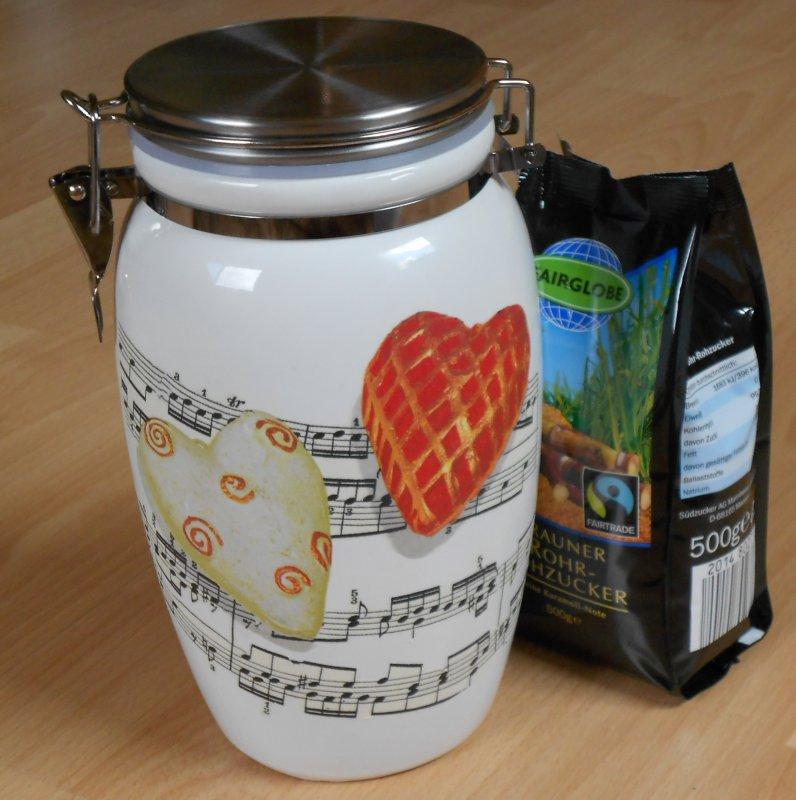 funny ceramic hoard box music hearts