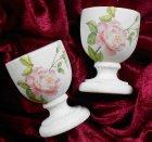 romantic egg cup beautiful roses shabby