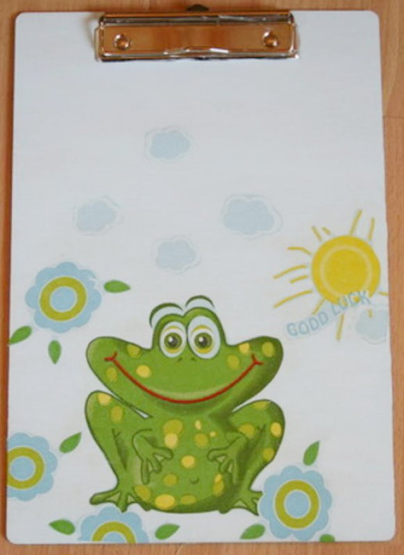 funny clipboard funny frog good luck