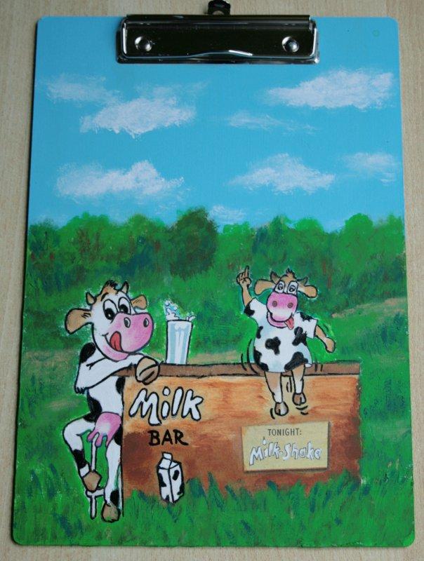 lustiger Notizblockhalter Kühe - Barmädels an der Milchbar