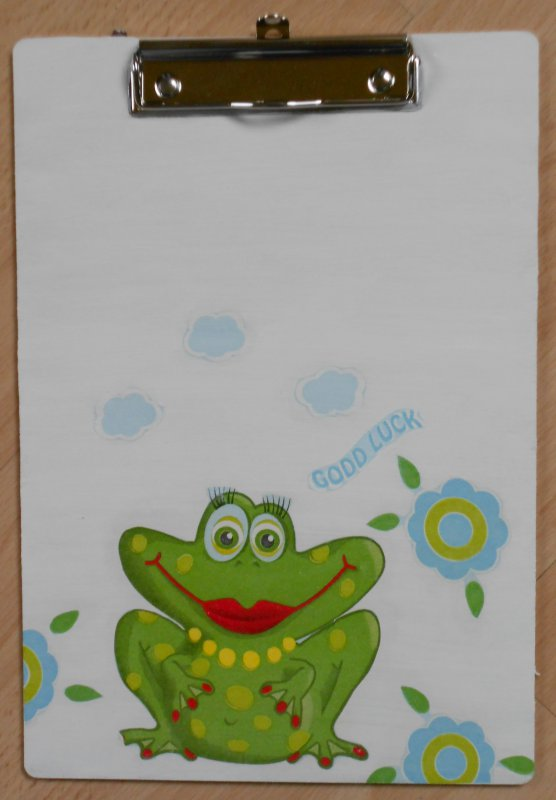 funny clipboard funny frog lady good luck