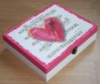 ethno tea bag box romantic heart