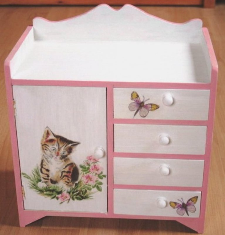 beautiful drawer cabinet cute cat