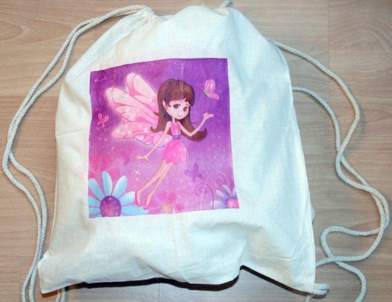 cotton duffel bag lila elfe