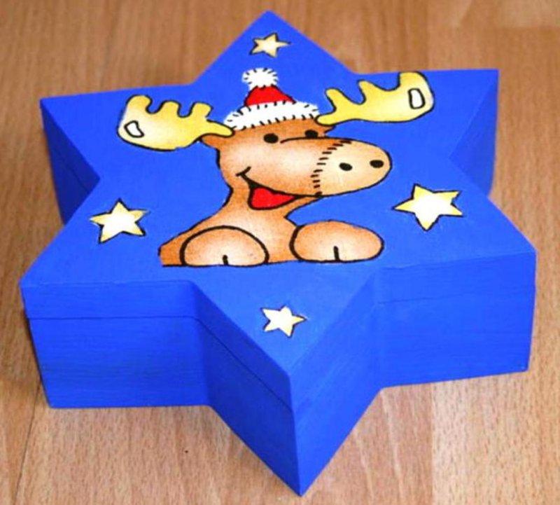 nice star gift box funny reindeer