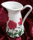 romantic emaille vase red roses
