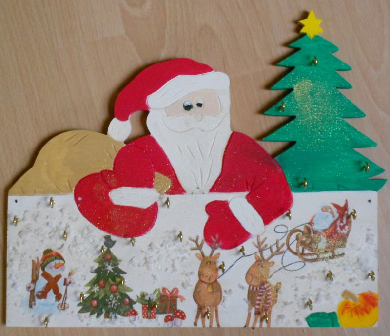 advent calender beautiful reindeer and santa clause