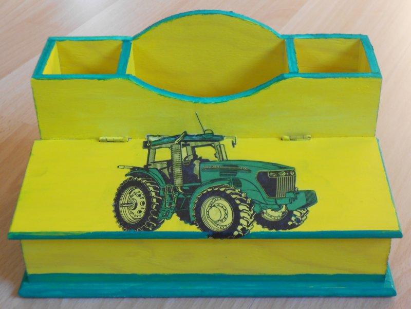 cool tractor pencil box