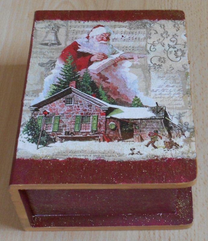 Geschenkbox Weihnachten.Nostalgische Weihnachten Buch Geschenkbox Weihnachtsmann