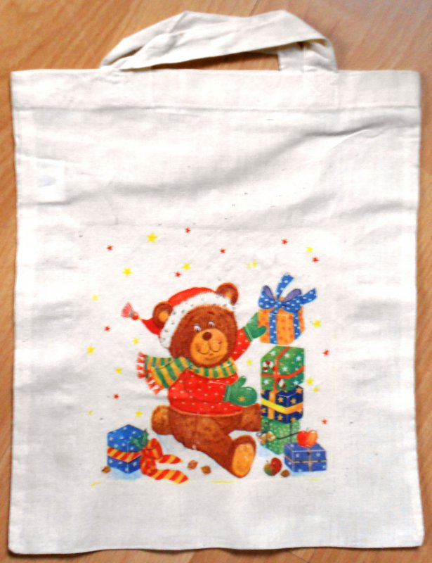 christmas bag cute bear with gifts