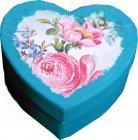 romantische Herz Geschenkschachtel Rosen