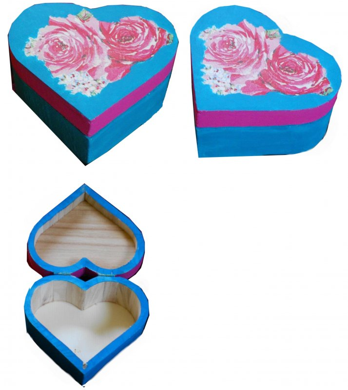 verträumte Herz Geschenkdose romantische Rosen
