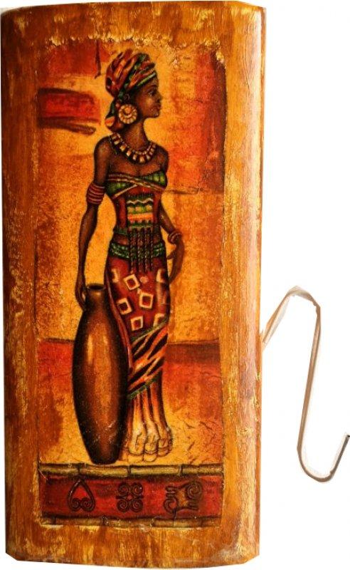 hübscher ethno Heizungsluftbefeuchter afrikanische Frau