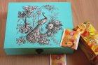 tea bag box peacock