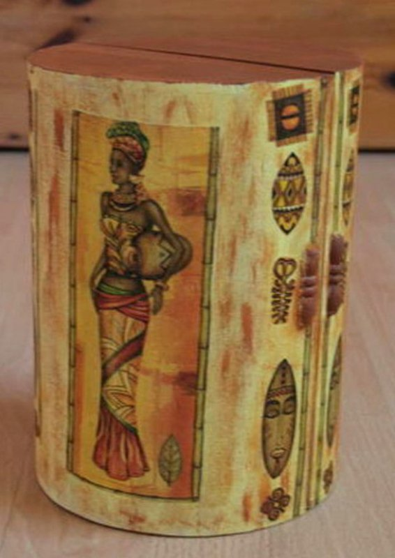 ethno and elegant jewelery case african woman