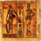 ethno Wanduhr Afrika Massai
