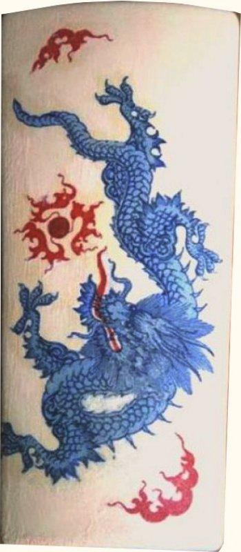 ethno Heizungsluftbefeuchter asiatischer Drache
