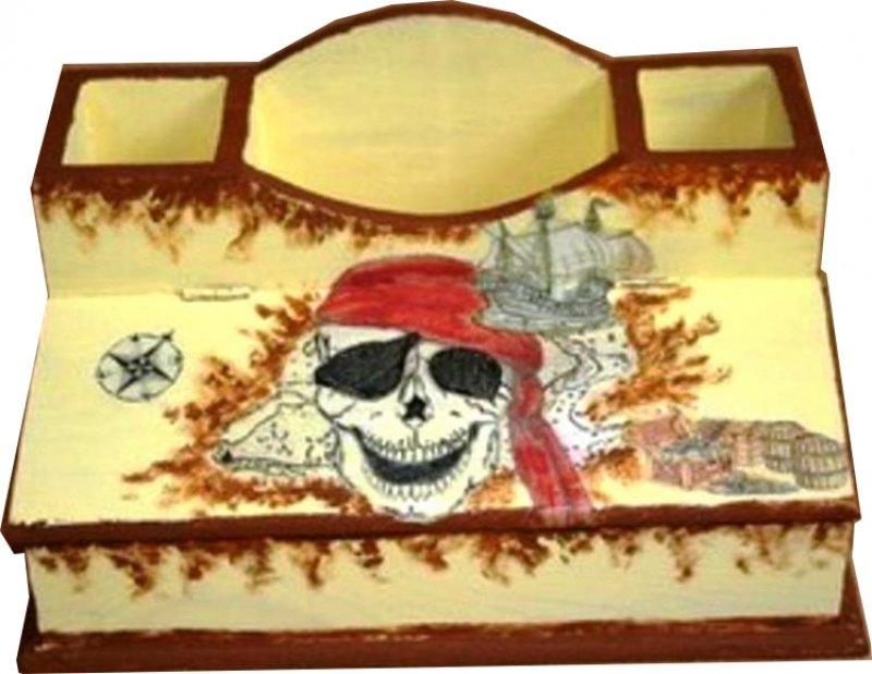 coole Piraten Utensilo - / Stiftebox Totenkopf
