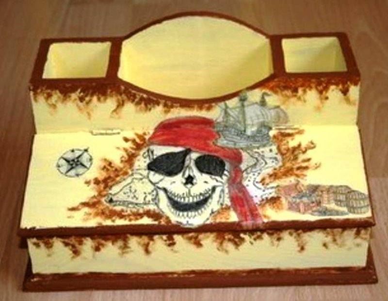 cool pirate pencil box