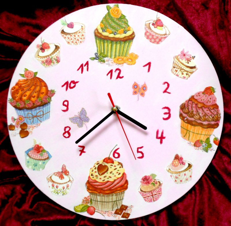 nice kitchen wall clock muffins ....