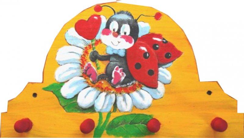 niedlicher Handtuchhalter Marienkäfer mit Margarite