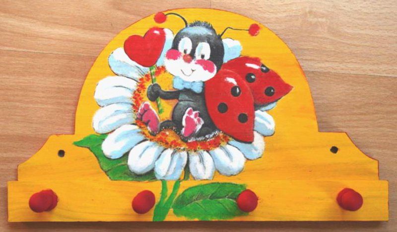 cute towel holder ladybeetle with flower