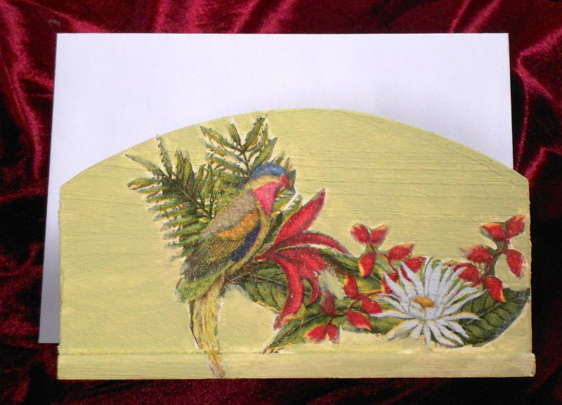 Serviettenhalter exotische Vögel und tropische Blumen