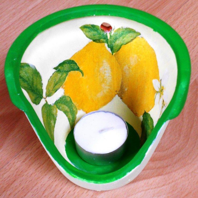 wonderful tealight holder lemon