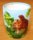 beautiful caramic vase squirrel