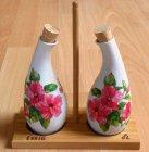 florale Essig und Ölfläschchen Hibiskus