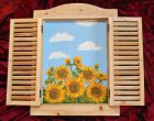 window shutter picture sunflowers