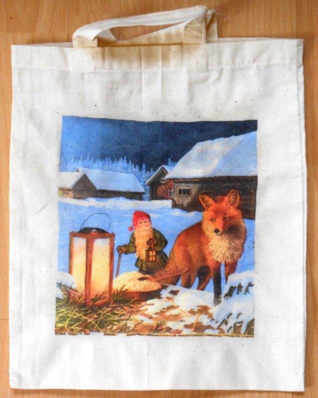 beautiful cotton bag dwarf with fox