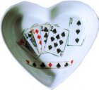 originelle Herz Porzellanschale Poker Games