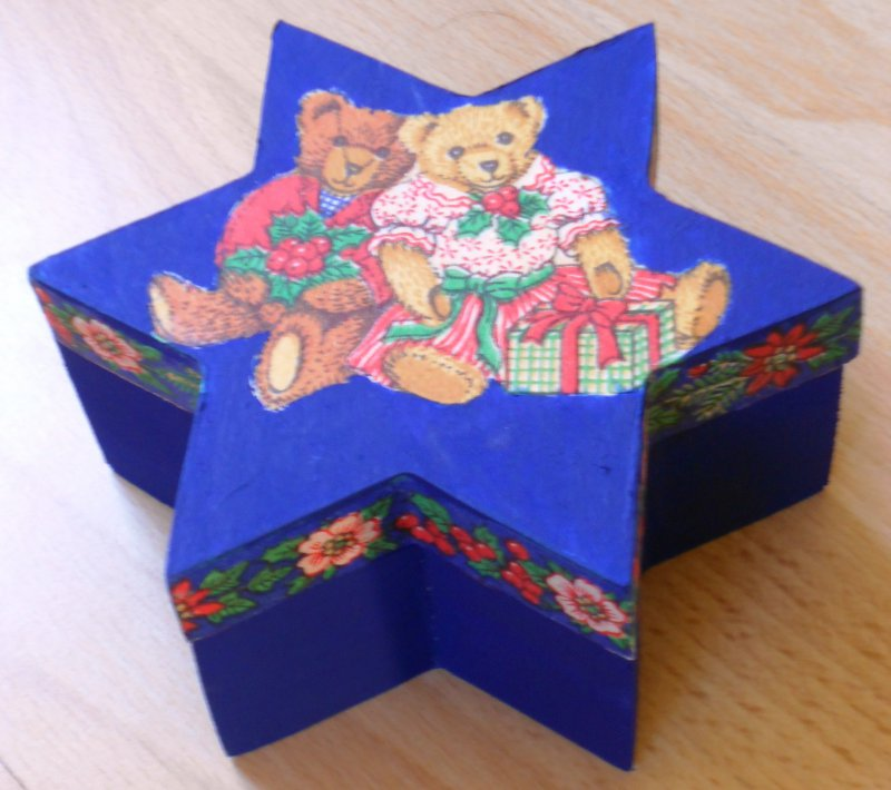nice star gift box christmas gift with bears