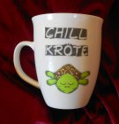 funny cup with relaxing turtle