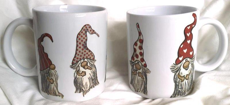 herziger Porzellan Kaffeebecher schwedische Wichtel