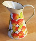 beautiful emaille mug flowers