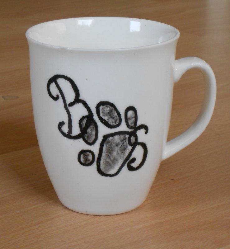 außergewöhnlicher Porzellan Kaffeebecher Tattoo