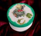 hübsche Neujahr Geschenkdose Schornsteinfeger