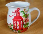 romantic porcelain mug beautiful lantern with flowers